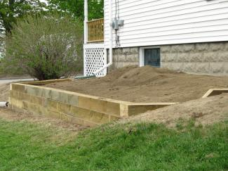Retaining Wall from Right