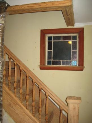 Stripped Woodwork and Stained Window